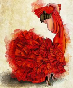 flamenco dancer art paint by numbers