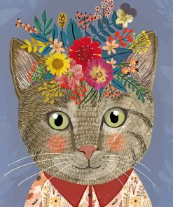 floral-cat-paint-by-numbers