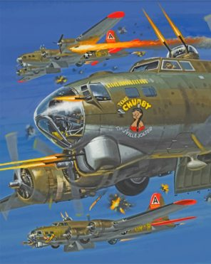Flying Fortress paint by numbers