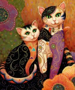 Folk Cats paint by numbers