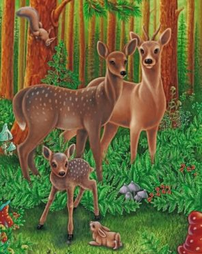 forest-animals-paint-by-number