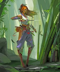 Forest Girl Paint by numbers