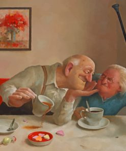 Funny Old Couple paint by numbers
