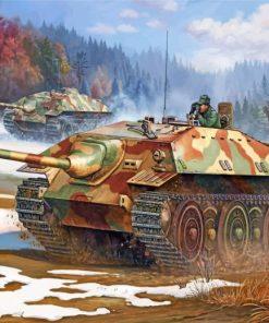 german tanks ww2 paint by numbers
