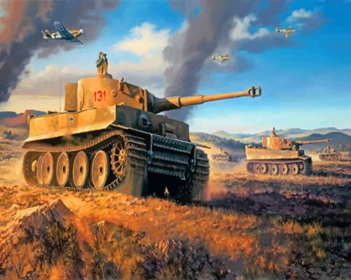 german tiger tank paint by numberS