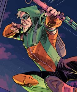 green arrow paint by number