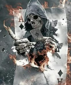 Grim Reaper paint by numbers