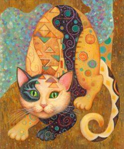 gustav klimt cat paint by number