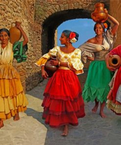 gypsy spanish Women paint by numbers