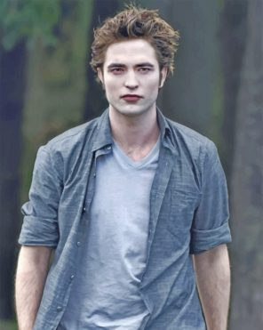 Handsome Edward Cullen paint by numbers