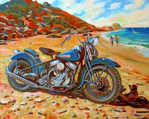 harley davidson Bike paint by numbers