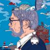 Hayao Miyazaki illustration Paint by numbers