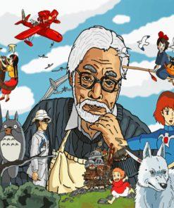 Hayao Miyazaki Studio Ghibli paint by numbers
