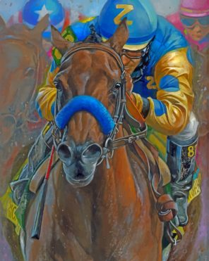 Horse Racing Paint by numbers