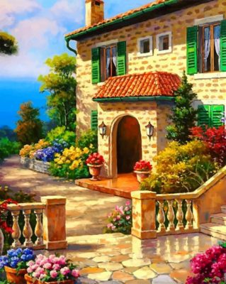 House Garden paint by numbers