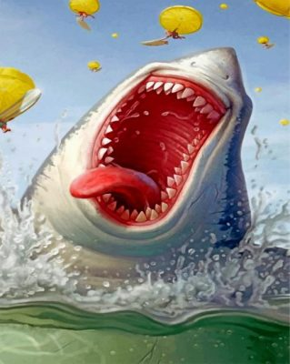 Hungry Shark paint by numbers