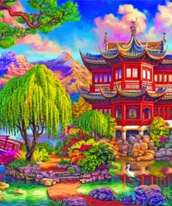 Japanese Park paint by numbers