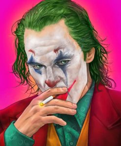 joker villain paint by numbers