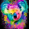 Colorful Koala Paint by numbers