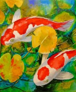 koi fish in a pond paint by numbers