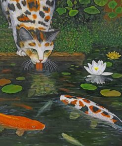koi-pond-cat-paint-by-numbers