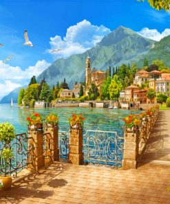 lake como italy paint by numbers