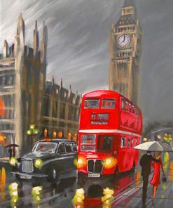 London Red Bus paint by numbers