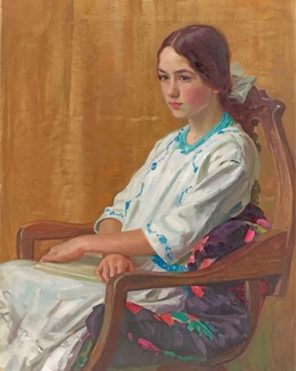 Lonely Girl Sorolla Paint by numbers