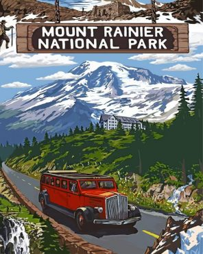 mount rainier national park paint by numbers