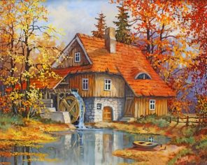 Peaceful Lake House paint by numbers