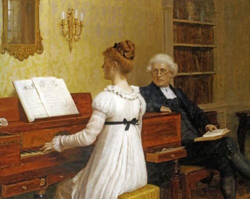 piano lesson paint by numbers