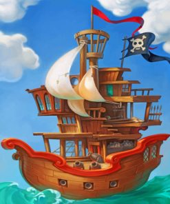 pirate-ship-paint-by-numbers