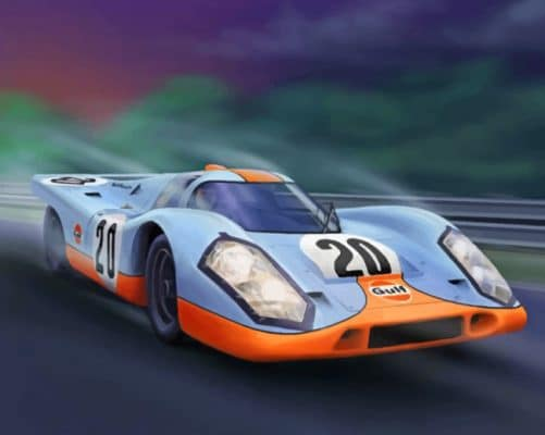 porsche 917 Car paint by numbers