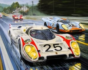porsche 917 Racing paint by numbers