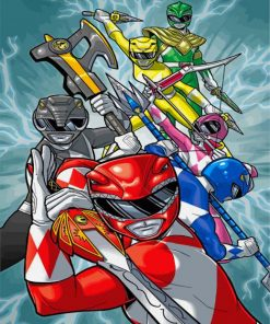 Power Rangers Illustration Paint by numbers