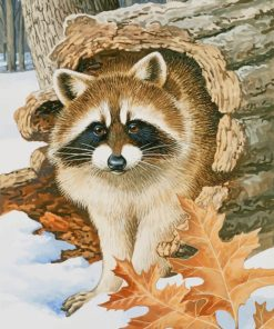 raccoon-paint-by-numbers