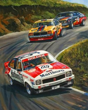 racing cars paint by numbers