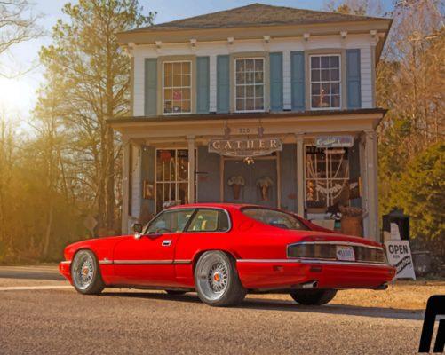 Red Jaguar Xjs Paint by numbers