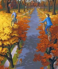 Autumn Rob Gonsalves Piant by numbers