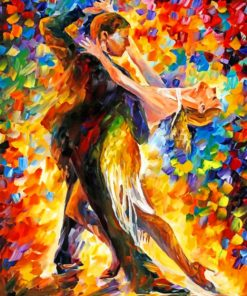 romantic couple dancing paint by numbers