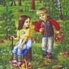 Siblings In The Forest Paint by numbers