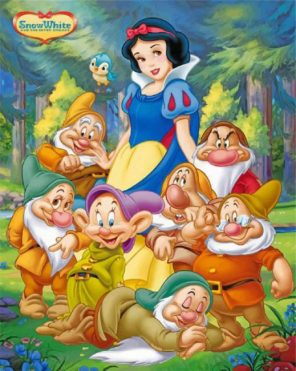 snow white an Dwarfs paint by numbers