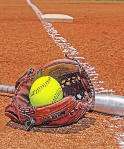 softball equipment paint by number