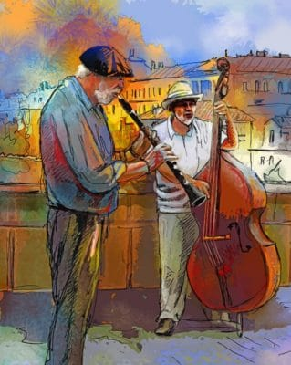 street musicians paint by numbers