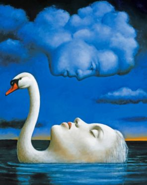Swan Woman And Cloud Man Paint by numbers