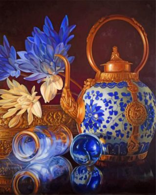 Aesthetic Tea Set Paint by numbers