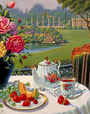 Tea Set paint by numbers
