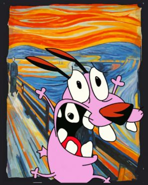 The Cowardly Dog paint by numbers