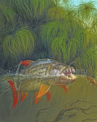 tigerfish In Water paint by numbers