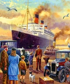 titanic ship passengers paint by numbers